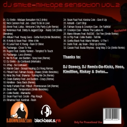 DJ Smite Mixtape Sensation Vol. 2 Back Cover