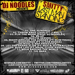 DJ Noodles & Smitty Last Man Standing Back Cover