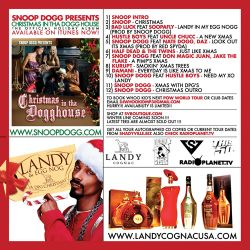 DJ Whoo Kid & Snoop Dogg Landy & Egg Nog 'A DPG Christmas' Back Cover