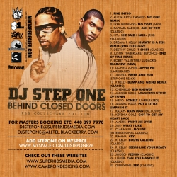 DJ Step One Behind Closed Doors Back Cover