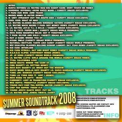 DJ Step-One & DJ K-Nyce Summer Explosion 3 Soundtrack 2008 Back Cover