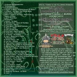 DJ Synystr Muzik Blends 3 Back Cover