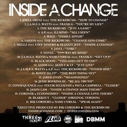 Three/21 Media Inside A Change (Mixtape) Back Cover