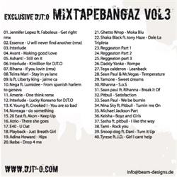 DJT.O Mixtapebangaz Vol. 3 Back Cover