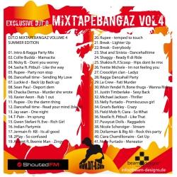 DJT.O Mixtape Bangaz Vol. 4 Back Cover