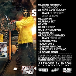 Tony Yayo Swine Flu Pt. 2 Back Cover
