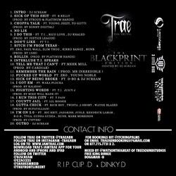 Trae Tha Truth Tha Blackprint Back Cover