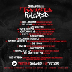 Don Cannon & Twista Reloaded Back Cover