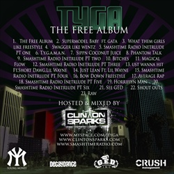 DJ Clinton Sparks & Tyga The Free Album Back Cover