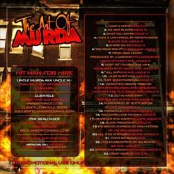Uncle Murda The Art Of Murda Back Cover