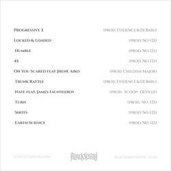 Vince Staples Shyne Coldchain Vol. 2 Back Cover