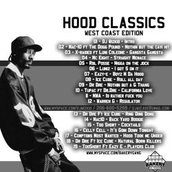 DJ WizKid Hood Classics West Coast Edition Back Cover