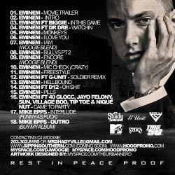 DJ Woogie & Eminem Global Warning Back Cover
