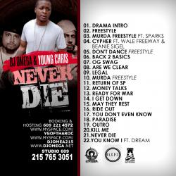 Young Chris & DJ Omega Never Die Back Cover