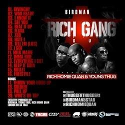 Young Thug, Rich Homie Quan & Birdman Rich Gang: The Tour, Part 1 Back Cover